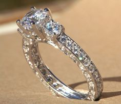 Diamond Engagement Ring  VINTAGE style  185 by BeautifulPetra, $5,500.00