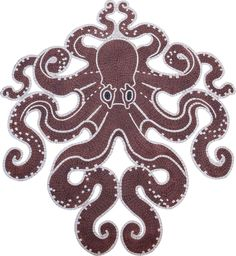 This octopus mosaic has it's tentacles spread symmetrically on both sides and would look cool in a bathroom or pool! It is handmade from marble stone and can be customized in color and size. Marble Mosaic, Mosaic Art, Mosaic Glass, Mosaic Tiles, Diy Bathroom Decor, Small Bathroom, Bathroom Showers, Bathroom Ideas, Diy Shower