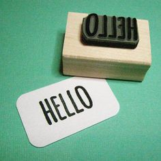 Hello Sentiment Text Rubber Stamp - Skinny Font - Card Making - Scrapbooking - Greeting - Salutation - Hi - Hello There Skinny Fonts, On The High Street, Alcohol Free, Free Baby Stuff, Cardio, I Shop, Craft Projects, How To Draw Hands, Artisan