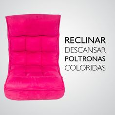 Conforto e poltronas andam juntos. Sentar na poltrona reclinável, embaixo do ar, na frente da tv, com um pacote de pipocas. Eu Adooooro! Confira as mais coloridas poltronas na Adoro Presentes. #poltronas #reclináveis #coloridas #decoração #AdoroPresentes #conforto #descansar #rosa
