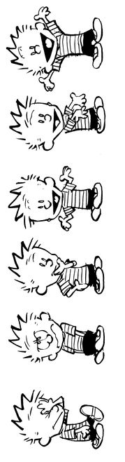 Calvin and Hobbes (DA) - Calvin's conversation with himself