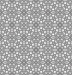islamic geometric patterns black and white - Google Search