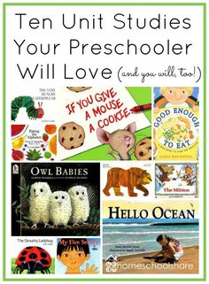 Ten Unit Studies (and lapbooks) Your Preschooler Will Love! Find these free downloads at Homeschool Share