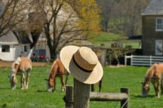 Photo about Amish straw hat laying on a fence post in a Lancaster Pennsylvania Amish farm. Image of country, scenic, green - 40193119 Best Vacations, Vacation Destinations, Vacation Spots, Amish Farm, Amish Country, Country Life, Amish Village, Belly Dancing Classes, Roadside Attractions