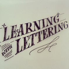 Learning with Lettering by Martina Flor