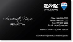 Remax real estate agent business cards re max for Remax business cards templates