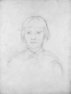 John Singer Sargent ( Violet Sargent, ca. Graphite on off-white wove paper, Metropolitan Museum of Arte - (Gift of Mrs. Figure Drawing, Painting & Drawing, Drawing The Human Head, American Impressionism, Beautiful Sketches, Whistler, You Draw, American Artists, Gouache