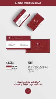 "Check out my @Behance project: ""Restaurant business card template"" https://www.behance.net/gallery/55535995/Restaurant-business-card-template"