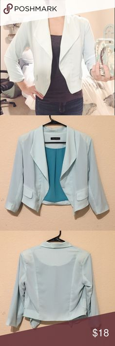 Pastel turquoise blazer Pastel turquoise flowy blazer. Super flattering and perfect for work or a job interview. Worn only a few times, in great condition Jackets & Coats Blazers