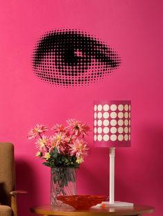ORIGINÁLNÍ SAMOLEPKA OKO Wall Stickers, Lighting, Design, Home Decor, Wall Clings, Decoration Home, Wall Decals, Room Decor, Lights