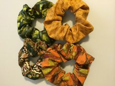 Hair Scrunchies Scruncheys Scrunchys Ponytail  by thriftyvicki, $10.00