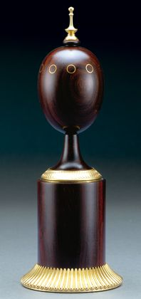 (3) FABERGE eggs__Theo Faberge__Editor's Scribe Egg by Theo Faberge