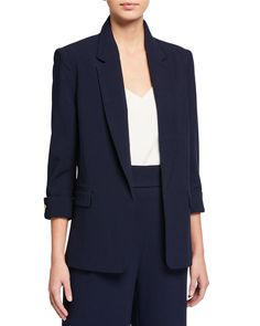 Shop Open-Front French-Cuff Blazer from Nanette Nanette Lepore at Neiman Marcus Last Call, where you'll save as much as on designer fashions. World Of Fashion, Mens Fashion, French Cuff, Sharp Dressed Man, Nanette Lepore, Last Call, Pocket Detail, Clearance Sale, Neiman Marcus