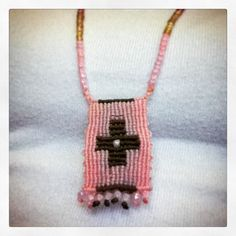 My handmade #macrame #boho #necklace with cross.