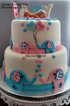 Gender Reveal Cake Gender Reveal taart More