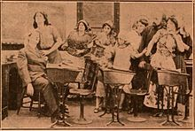 Still from the 1910 silent film The Girls of the Ghetto. The film is lost.