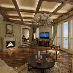 wood false ceiling designs for living room