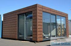 Modarne brakke / container / kiosk / butikk / kontor - to moduler / x Kiosk, Garage Doors, Container, Outdoor Decor, Home Decor, Modern, Decoration Home, Room Decor, Home Interior Design