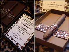 Bachelor Party Invites... Not with animal print though..