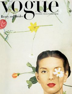 So I-D didn't start that one-eyed business after all... vogue uk, february 1945