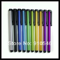 5000pcs/lot Metal Pen Stylus Pen Touch Pen Capacitive Pens For iPhone iPad Tablet PC iTouch etc, Factory Direct Free Fedex