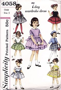 1960s Girls' 7 Day Wardrobe  Vintage Dress by PatternAndStitch, $12.50