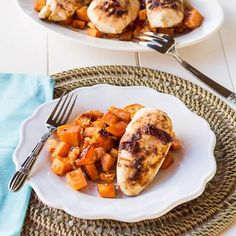 Chicken Recipes : Recipe: Chipotle Chicken with Roasted Sweet Potatoes