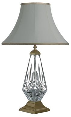 Turkis Crystal 3 Way Chrome Table Lamp Beige Off White