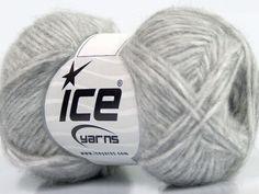 Fiber Content 60% Royal Baby Alpaca 30% Nylon 10% Merino Wool Light Grey Brand Ice Yarns fnt2-44130