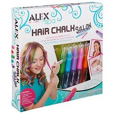 ALEX Spa Hair Chalk Salon Getting latest price. ALEX Spa Hair Chalk Salon Craft Kit lets your diva make her hair as vibrant as her perso. Tween Girls, Toys For Girls, Gifts For Girls, Kids Toys, Tween Girl Gifts, Children's Toys, Kids Girls, 9 Year Old Girl, Hair Kit
