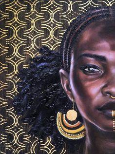 Ideas for black art painting love african americans natural Black Art Painting, Black Artwork, Black Girl Art, Black Women Art, Art Women, Natural Hair Art, Natural Hair Styles, Art Afro Au Naturel, Afrique Art