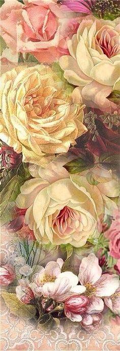 Wall paper rosa pink vintage roses 26 Ideas for 2019 Art Vintage, Vintage Paper, Vintage Flowers, Vintage Prints, Vintage Floral, Vintage Pictures, Vintage Images, Deco Floral, Illustration