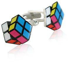 Rubik's Cube Cufflinks by Cuff-Daddy: Jewelry: Amazon.com