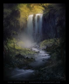 Waterfall by ReneAigner.deviantart.com on @deviantART