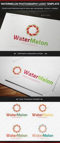 Watermelon Nature Photography Logo Template - Nature Logo Templates