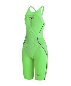 20% off! Speedo Women's Fastskin LZR Racer X Openback Kneeskin Green/Purple 8-09752a860 Kneesuits