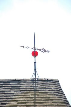 This awesome lightning rod is on top of our apartment! Lightning Rod, Lightning Strikes, It's Windy, Weather Vanes, Old Barns, Yard Art, Cabins, Cool Furniture, Cottages