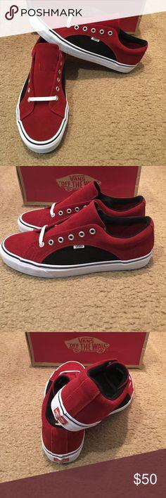 cdab8576632cc Vans Suede Lampin Reissue New in box. Red dahlia black Vans Shoes Sneakers  Tenis