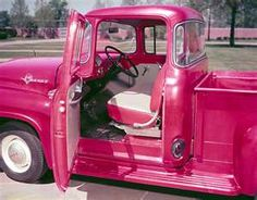 Hot Pink  Classic Ford Trucks - 1955 Ford F-100 Truck -  I am a Chevy kinda girl but if it comes in pink Im allllll over it[;