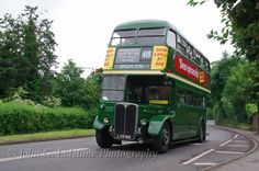 London Transport Country Area AEC Regent III / Park Royal RT3491, LYR 910 taking part in the first Leatherhead Running Day