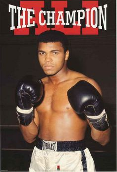"""A great poster of Muhammad Ali! He epitomizes the word """"Champion"""" - from his Cassius Clay days thru his epic career as a boxing legend, he's The Greatest. Fully licensed. Ships fast. 24x36 inches. Our"""