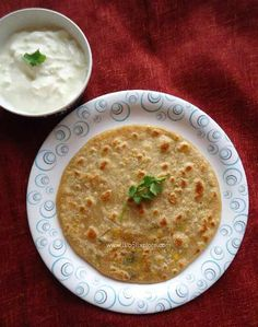 Carrot Paneer Paratha - Carrot and Cottage Cheese Stuffed Indian flat bread