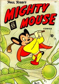Here I come to save the day! Best Comic Books, Vintage Comic Books, Vintage Comics, Funny Animal Comics, Funny Comics, Children's Comics, Cartoon Crazy, Mighty Mouse, Summer Books