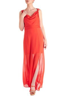 Bright Red Convertible Dress- The sheer bottom half of the skirt is removable to make it shorter!!