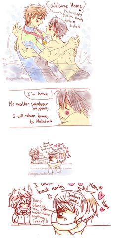 MakoHaru Eternal Love ... part 4 ... (based on ending of season 2 of Free!) ... From racyue ... Free! - Iwatobi Swim Club, haruka nanase, haru nanase, haru, free!, iwatobi, makoto tachibana, makoto, tachibana, nanase, kisumi shigino, shigino, kisumi, hayato, hayato shigino