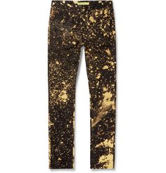 Raf Simons - Bleached Slim-Fit Denim Jeans | MR PORTER
