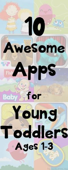 http://TheInspiredHome.org // 10 Apps for Toddlers: A collection of apps ideal for young toddlers ages 1-3