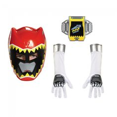 Power Rangers - Child Red Ranger Dino Accessory Kit Includes: One character mask, belt buckle, and pair of gloves.
