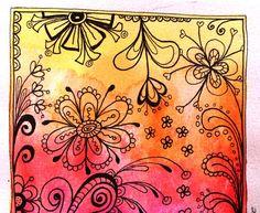 Zo nu en dan maak ik even weer een voorraad kaartjes om te versturen... Op aquarelpapier met watervaste fineliner en ecoline.