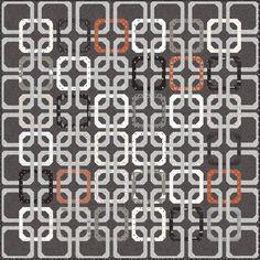 "Concord quilt pattern by Vanessa Goertzen of Lella Boutique. Interlocking chain quilt made with precut Honeybun strips. (1.5"" strips) Fabric is Smoke & Rust by Lella Boutique for Moda Fabrics shipping April 2021."